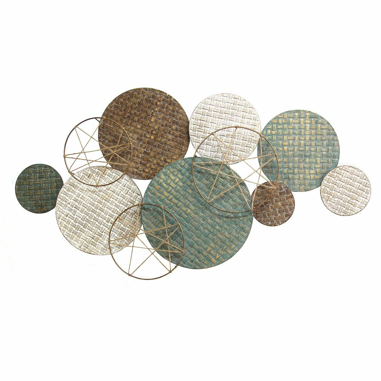Gracie Oaks Woven Texture Metal Plate Wall Decor Reviews Wayfair