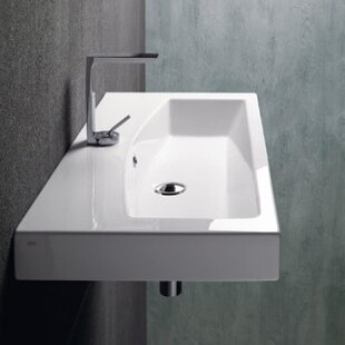 Compare prices Losagna Ceramic Rectangular Vessel Bathroom Sink with Overflow ByGSI Collection