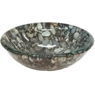 Reviews Natural Pebble Pattern Glass Circular Vessel Bathroom Sink By Eden Bath