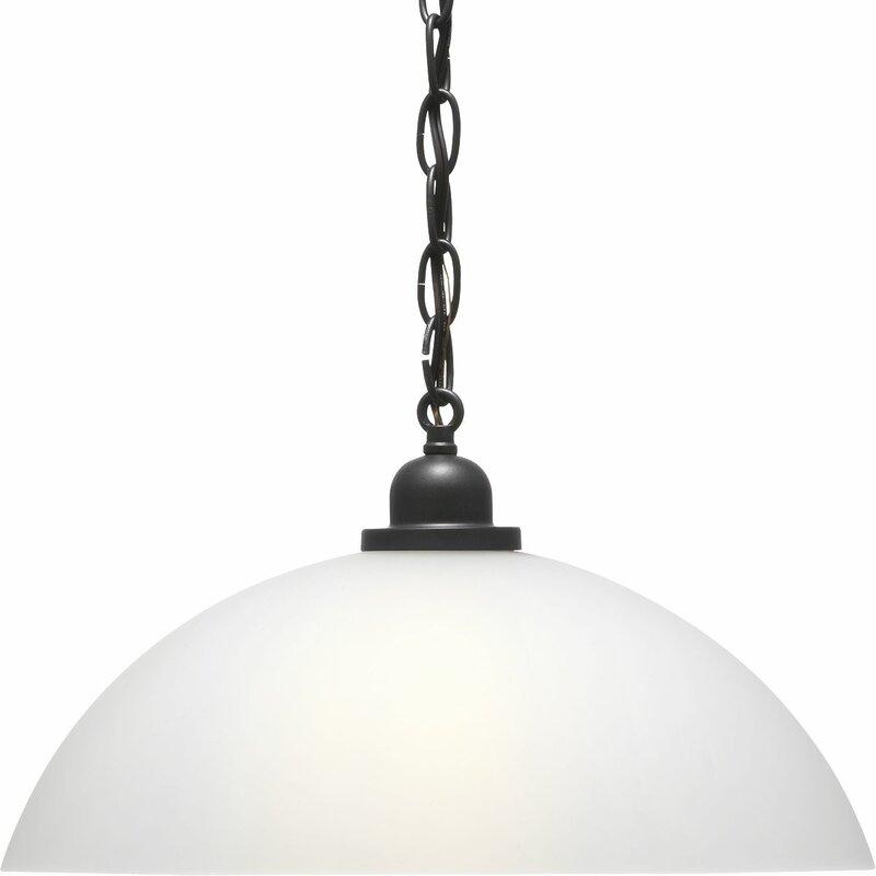 Ebern Designs Amari 1 Light Single Dome Pendant Reviews Wayfair
