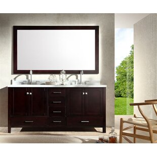 Marine 73 Double Bathroom Vanity Set with Mirror by Andover Mills