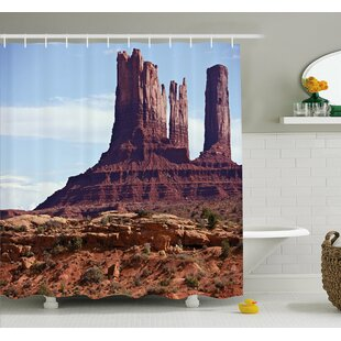 Famous Monument Valley Grand Canyon Rocky Cliffs USA Arizona Print Shower Curtain Set
