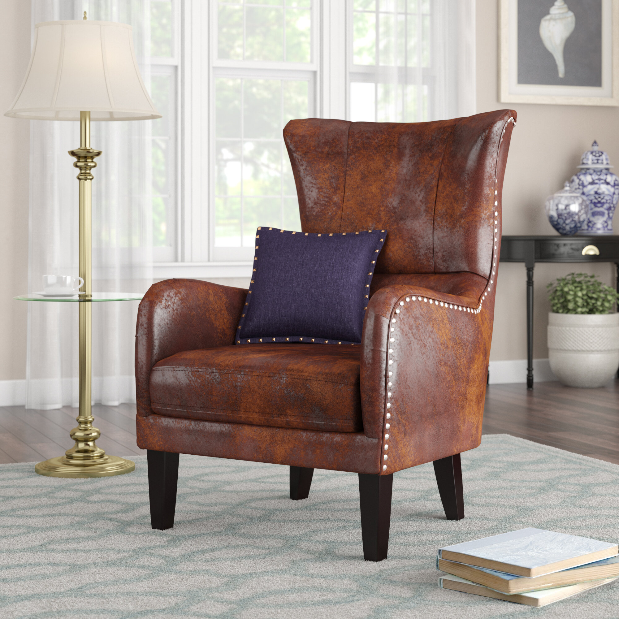 Alcott hill gordon wingback chair reviews wayfair