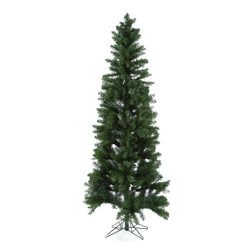 d8fc91d72d09 Vickerman Salem Pencil Pine 7.5' Green Artificial Christmas Tree with 350 Clear  Lights with Stand | Wayfair