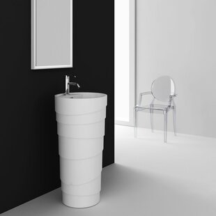 Reviews Rockview 18 Pedestal Sink with Overflow By Fine Fixtures
