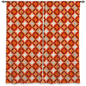 Geometric Room Darkening Rod Pocket Curtain Panels (Set of 2)