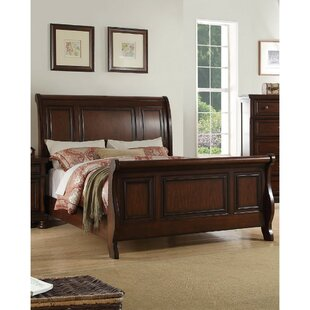 Darby Home Co Eudy Wooden Sleigh Bed