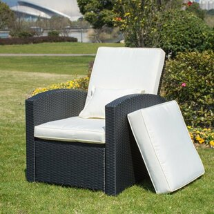 Krier Push Back Patio Chair with Cushion