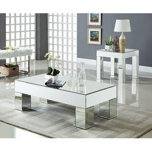 House of Hampton Nevels 2 Piece Coffee Table Set