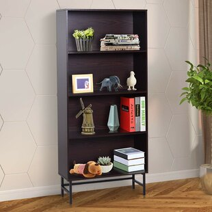 Jess 4-Shelf Modern Open Wood Grain Standard Bookcase by Wrought Studio