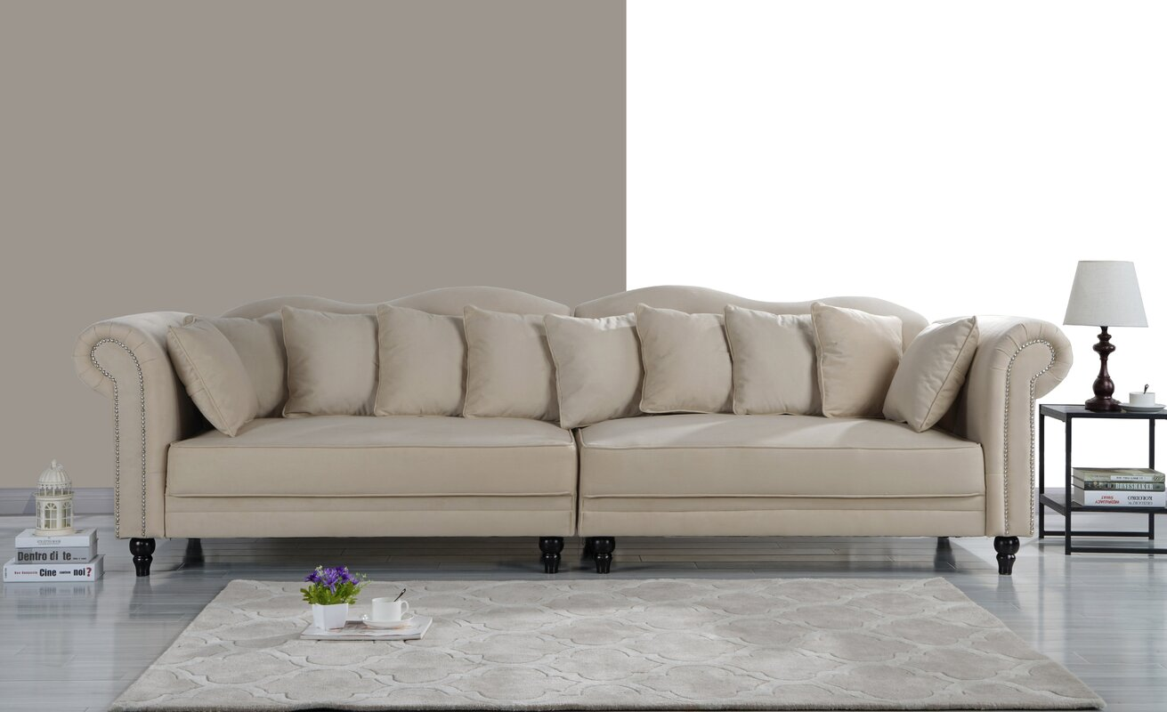 $749.99 House of Hampton Johnstown Large Chesterfield Sofa - dealepic .