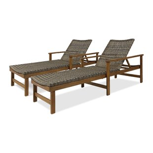 Lochview Reclining Chaise Lounge (Set of 2)