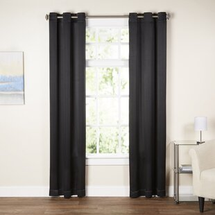Black Red Curtains Drapes