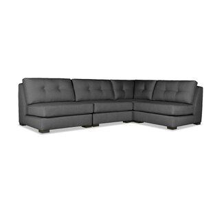Glaude Buttoned L-Shape Short Modular Sectional by Brayden Studio