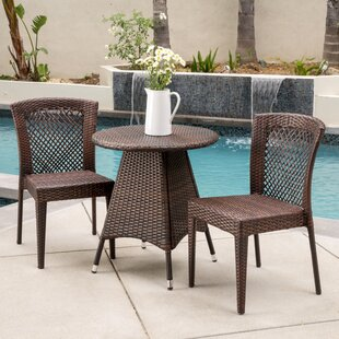 Bungalow Rose Izaguirre 3 Piece Bistro Set