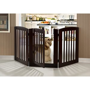 Ruffluv 3 Panel Expansion Dog Gate with Door