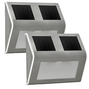 Sunforce Solar 2-Light LED Step Light (Set of 2)