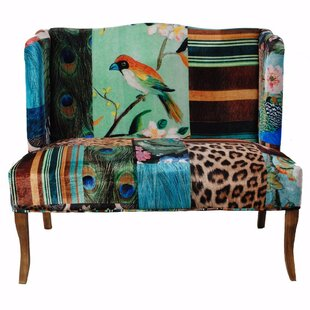 Polster Bird Collage Print Settee by Bloomsbury Market