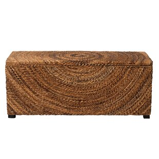 Wilmer Wicker Storage Bench By Blue Elephant