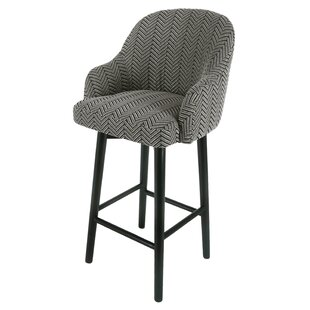 Wellfleet Fabric Swivel Bar Stool Bungalow Rose