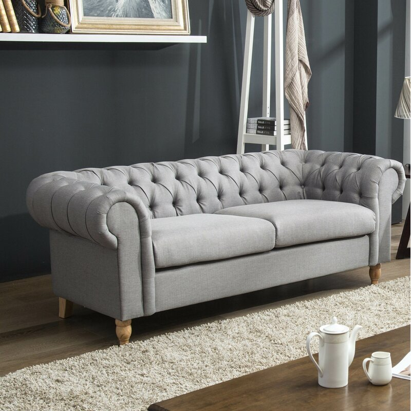 Marlow Home Co Dunigan 3 Seater Chesterfield Sofa Wayfair Co Uk