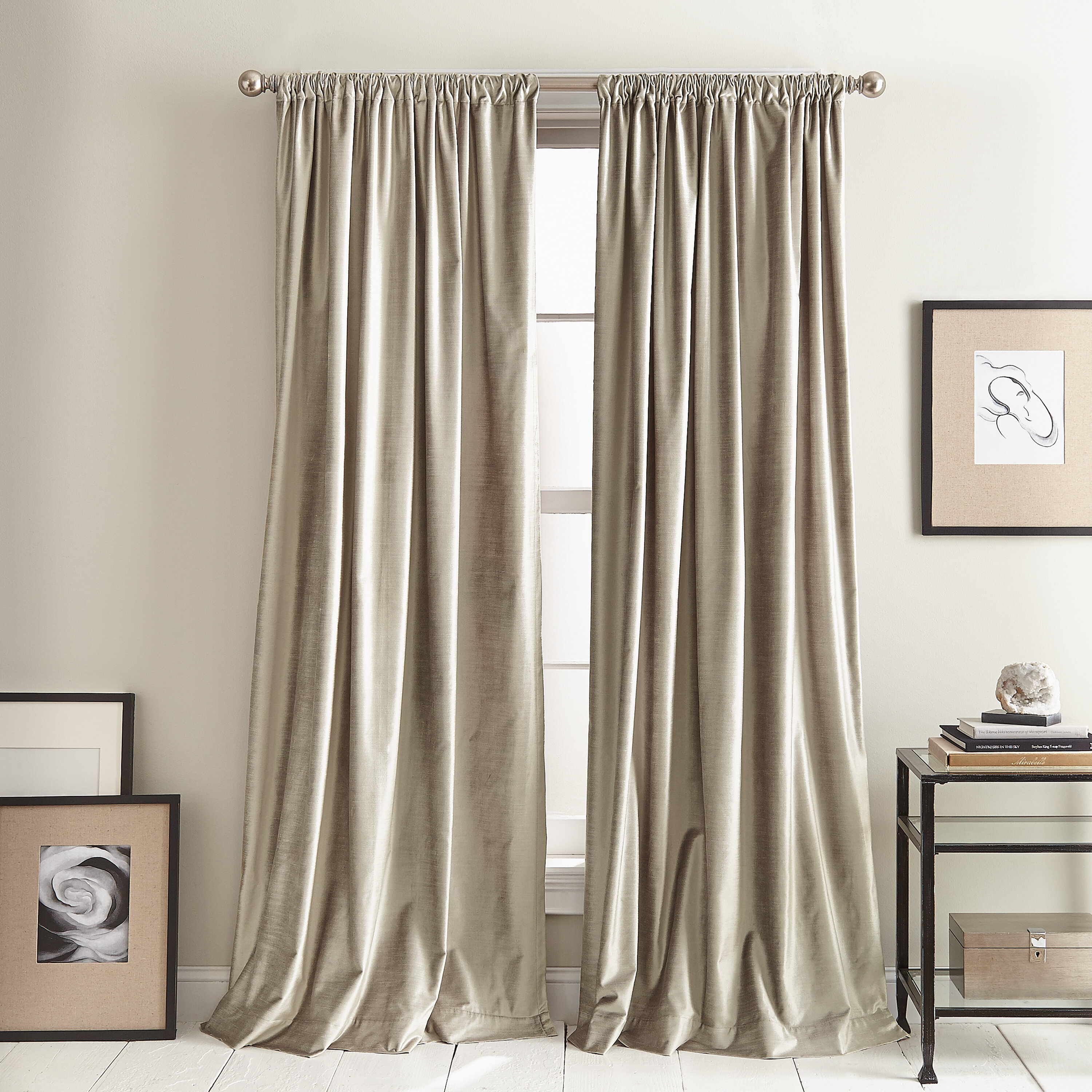 Dkny Modern Knotted Cotton Blend Solid Room Darkening Rod Pocket Curtain Panels Reviews Wayfair