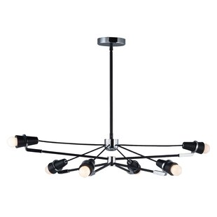 Brayden Studio Helena 6-Light LED Sputnik Chandelier