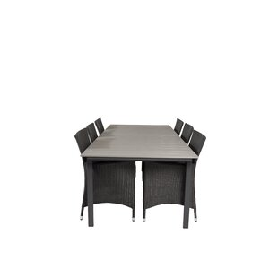Akio 6 Seater Dining Set With Cushions By Sol 72 Outdoor