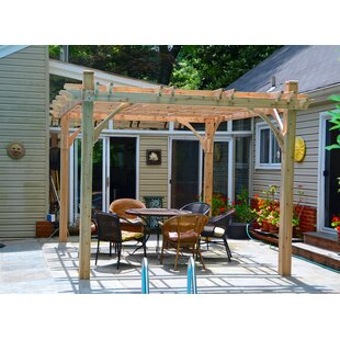 Breeze 10 Ft. W x 12 Ft. D Solid Wood Pergola by Outdoor Living Today