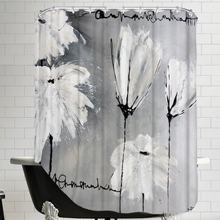 Flower Shower Curtain by East Urban Home