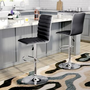 Manuel Adjustable Height Swivel Bar Stool (Set of 2) by Zipcode Design