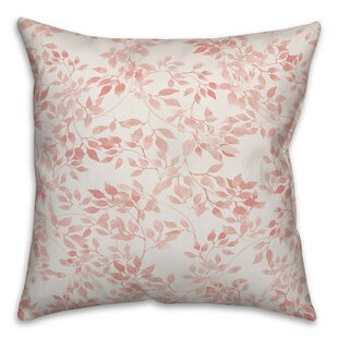 Brophy Blush Leaves Throw Pillow
