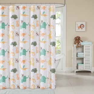 Dewayne Cotton Printed Shower Curtain by Viv + Rae