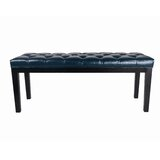 Blue Leather Benches You Ll Love In 2021 Wayfair