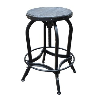 Williston Forge Halma Adjustable Height Swivel Bar Stool