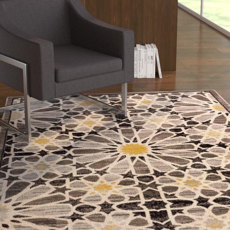 Ebern Designs Devanna Modern Floral Black Area Rug Reviews Wayfair