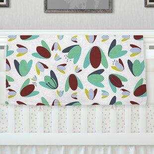 '1970's Floral Geometric' Fleece Baby Blanket ByEast Urban Home
