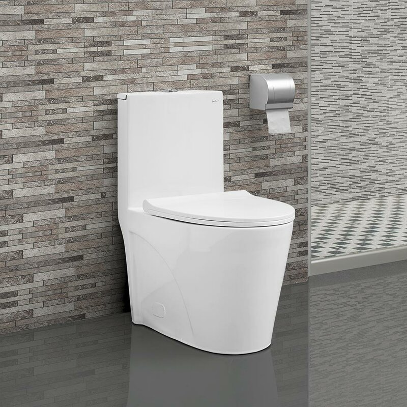 St Tropez Dual Flush Elongated One Piece Toilet Seat Included