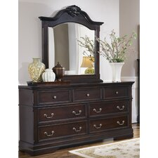 Lawrence 7 Drawer Dresser with Mirror by Astoria Grand