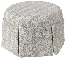 Deeanna Traditional Round Skirted Ottoman by Willa Arlo Interiors