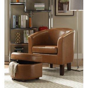 Altoga Barrel Chair and Storage Ottoman by Charlton Home