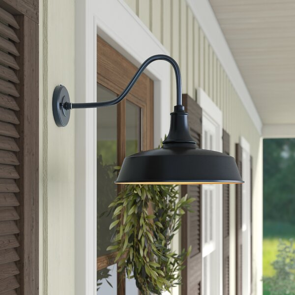 Gunnora 1 - Bulb Outdoor Barn Light with Dusk to Dawn by Andover Mills™