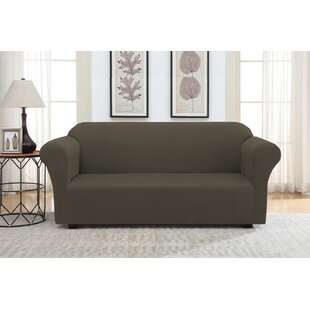 Shop Solid Suede Box Cushion Sofa Slipcover by Winston Porter