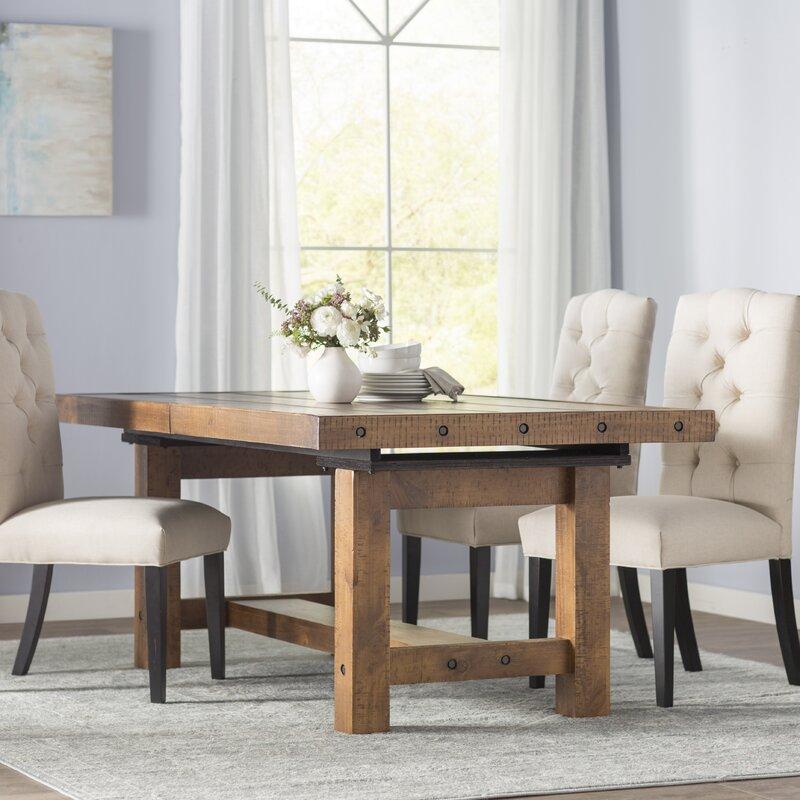 etolin extendable dining table reviews birch lane