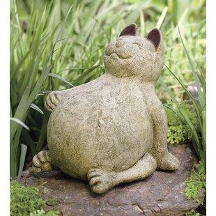 Beau Volcanic Ash Lucky Cat Statue