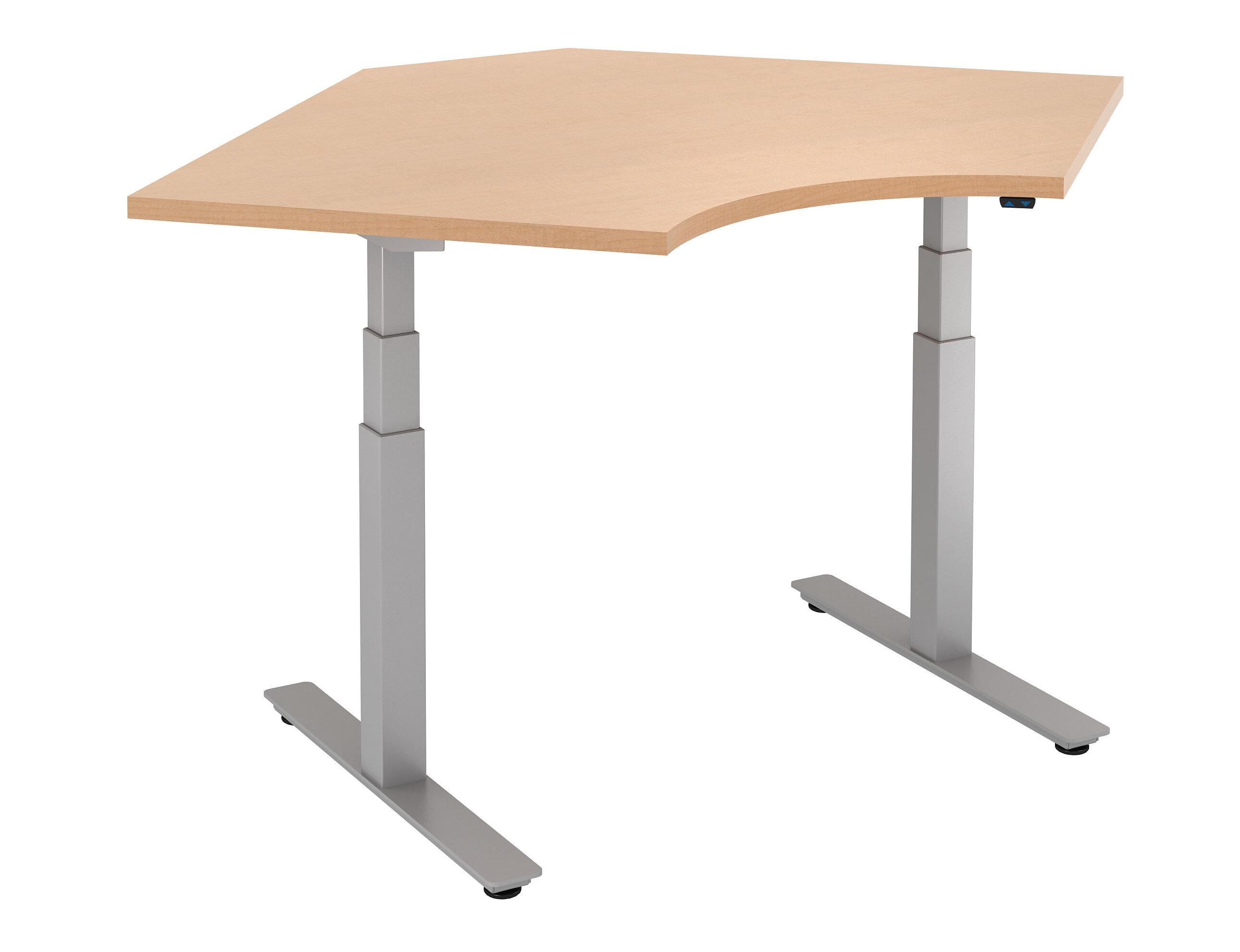 Trendway Curved Corner Height Adjustable Standing Table
