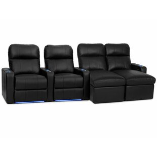 Leather Home Theater Sectional..