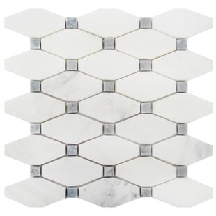 2 x 4 Marble Mosaic Tile in Oriental White/Gray
