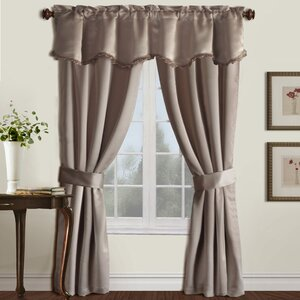 Calline Creek Solid Blackout Rod Pocket Single Curtain Panel
