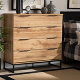 Pixley Wooden 4 Drawer Standard Dresser by Foundry Select